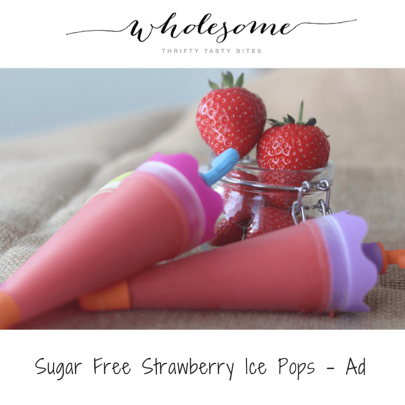 Sugar Free Strawberry Ice Pops - Ad