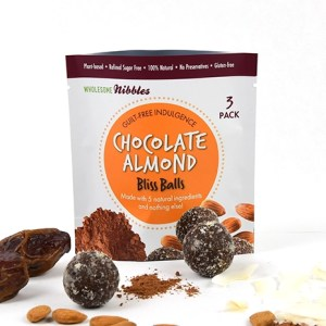 chocolate almond bliss balls vegan snack