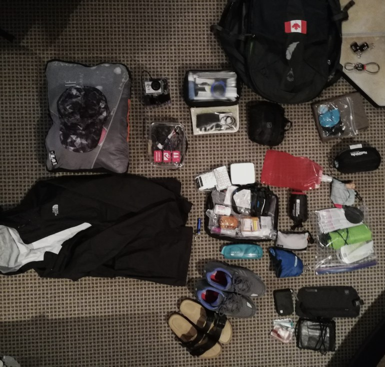how to pack for an around the world trip