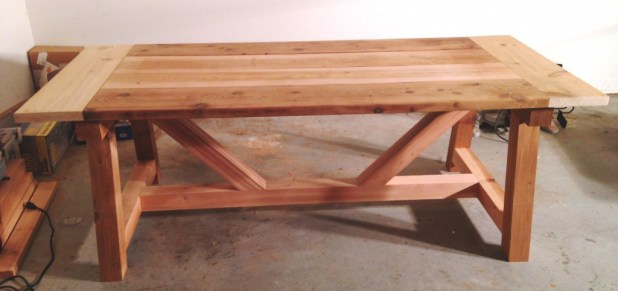 Post And Beam Table Brokeasshome Com