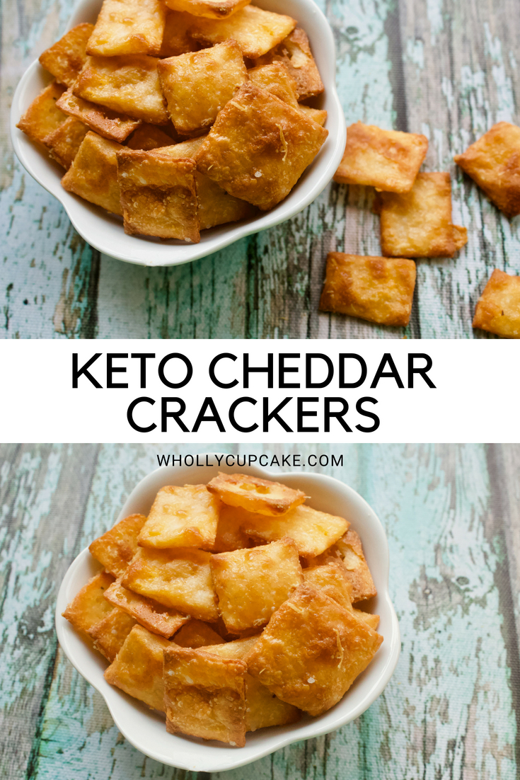 KETO CHEDDAR CRACKERS