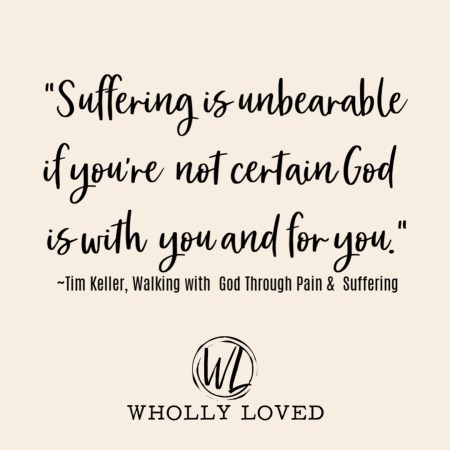quote on suffering from Tim Keller