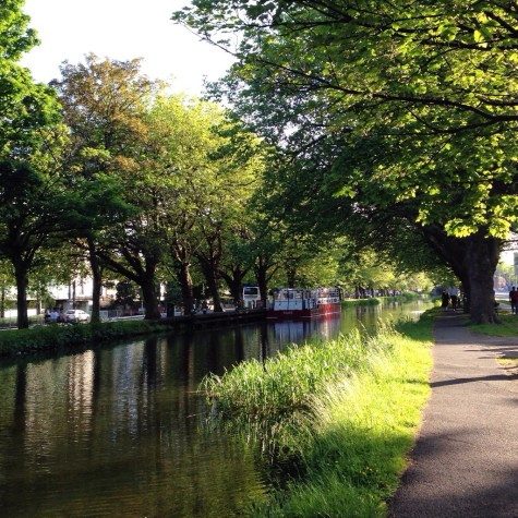 The canal by our apartments - no filter needed!