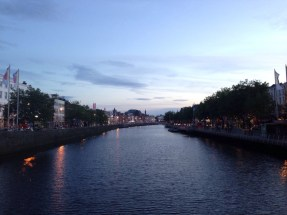 The Liffey in the evening!