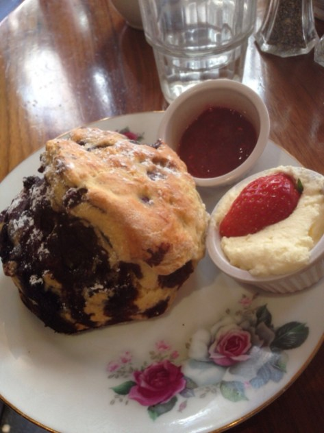 Scones and tea with my second cousin :)
