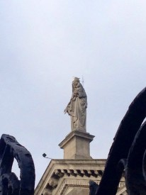 Note the pigeon on the statue's head
