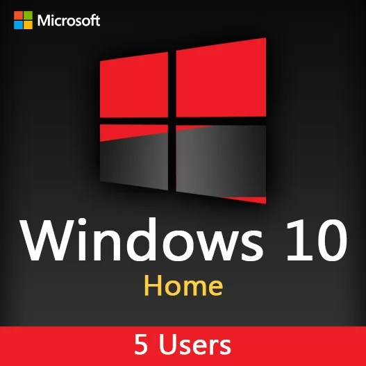 WINDOWS 10 Home Activation License Key For 5 Users