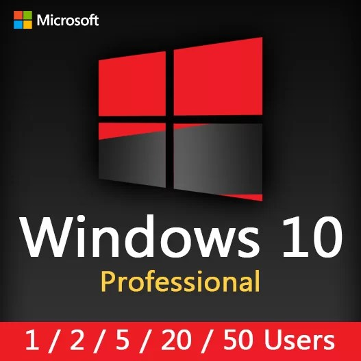 WINDOWS 10 PRO (1-2-5-20-50 Users) License Key