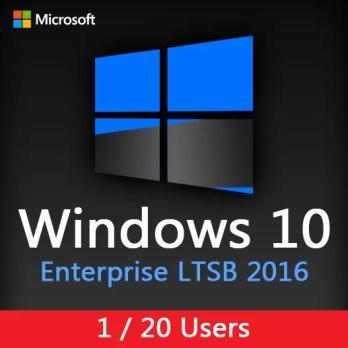 Windows 10 Enterprise LTSB 2016 - 1 / 20 Users