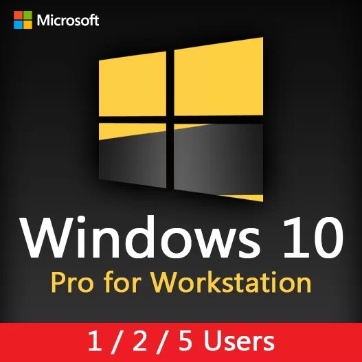 Microsoft Windows 10 Pro for Workstation License Key For 1 - 2 - 5 Users