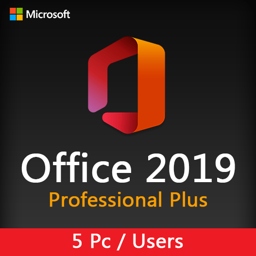 Office 2019 Professional plus (5 pc-user)