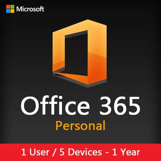 Office 365 Personal 1 Year (5 Devices) Activation License Key