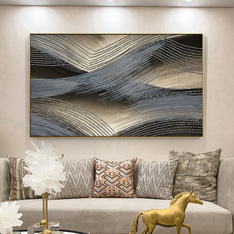 Abstract Wave Wall Painting