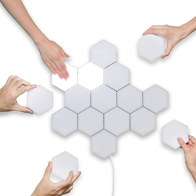 LED Hexagonal Touch Lamp (White)