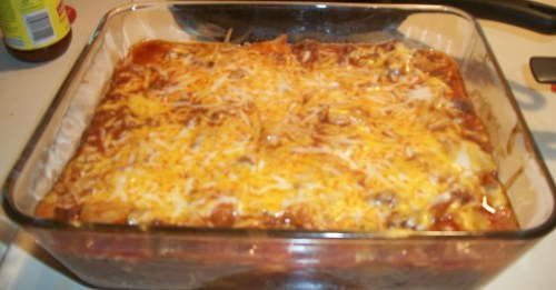 Beef and Potato Enchiladas
