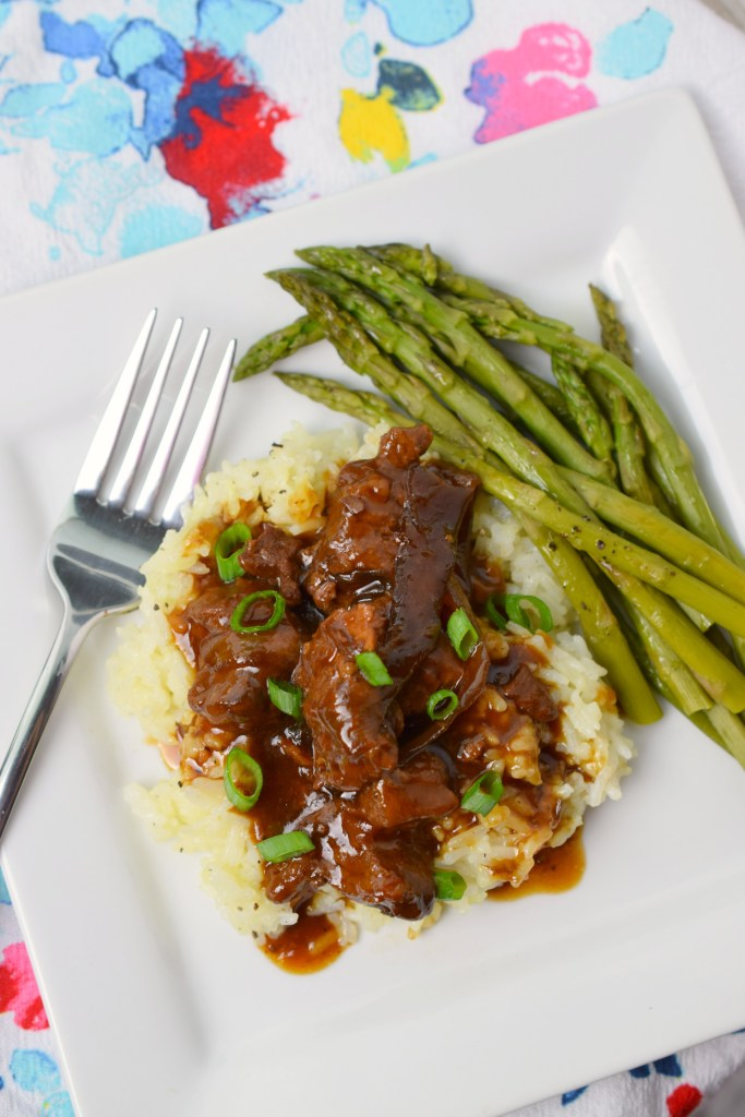 Easy Crockpot Mongolian Beef is a flavor-packed meal from your slow cooker that's tender and delicious! This will be a family favorite after just one try!