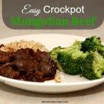 Easy Crockpot Mongolian Beef