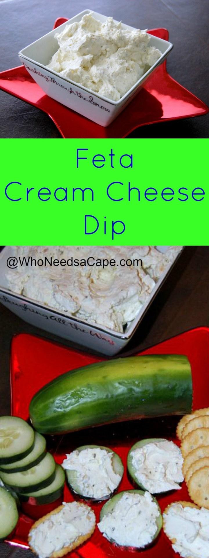 Feta Cream Cheese Dip