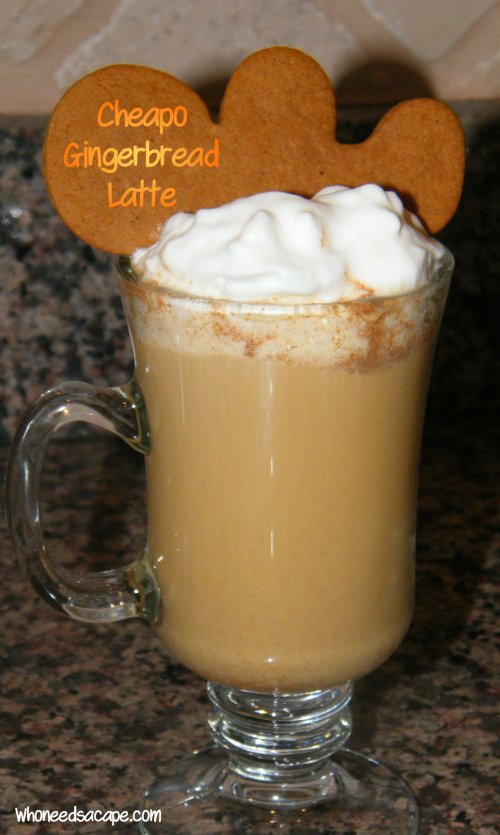 Cheapo Gingerbread Latte