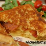 Grilled Cheese with Bacon, Apples & Onions