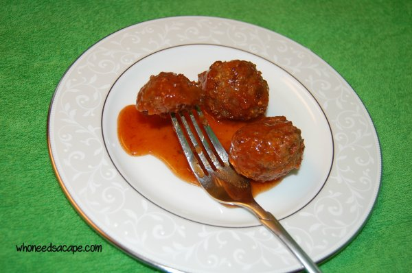 The Easiest Sweet & Sour Meatballs Ever   Who Needs A Cape?