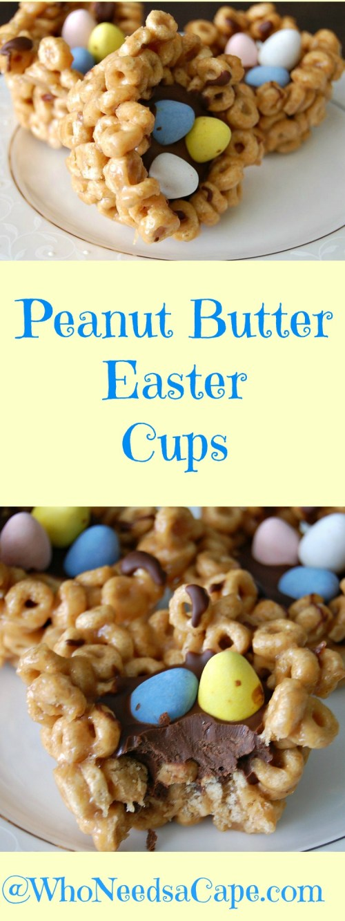 Peanut Butter Easter Cups are a snap to make and will make every Easter Brunch Dessert Table!