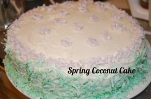 Spring Coconut Cake
