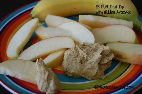 Peanut Butter Fluff Dip with Hidden Avocado