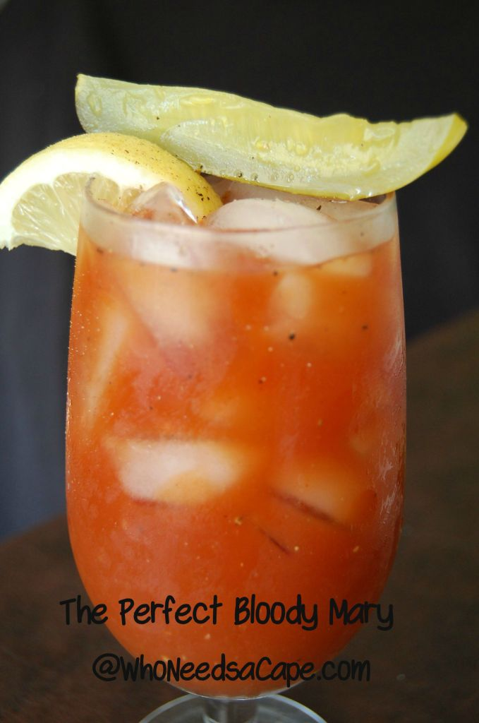 The Perfect Bloody Mary is the perfect cocktail for brunch, tailgating or just enjoyment! Blending tomato, spices and all things delicious!