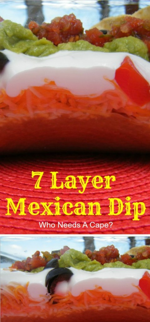 Who can resist a tasty dip? Not me! One of my favorites is my 7-Layer Mexican Dip! Grab the tortilla chips, this is one tasty dip! Perfect for parties!