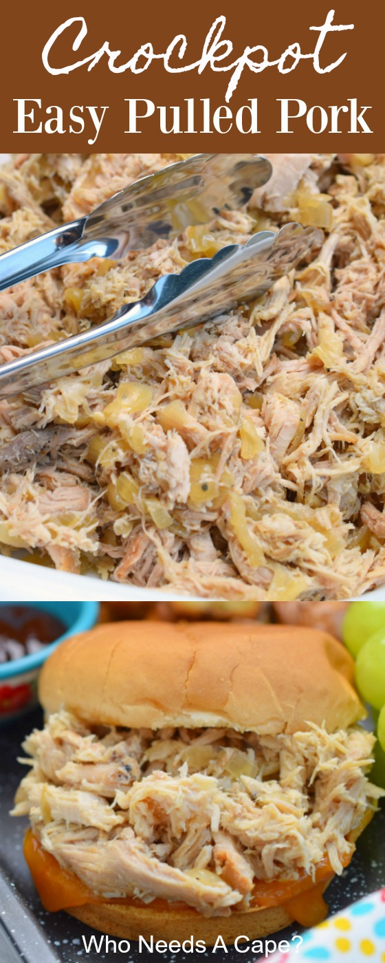 Crockpot Easy Pulled Pork is such a delicious beginning to so many great meals. Begin with an easy slow cooker recipe and make so many great meals.