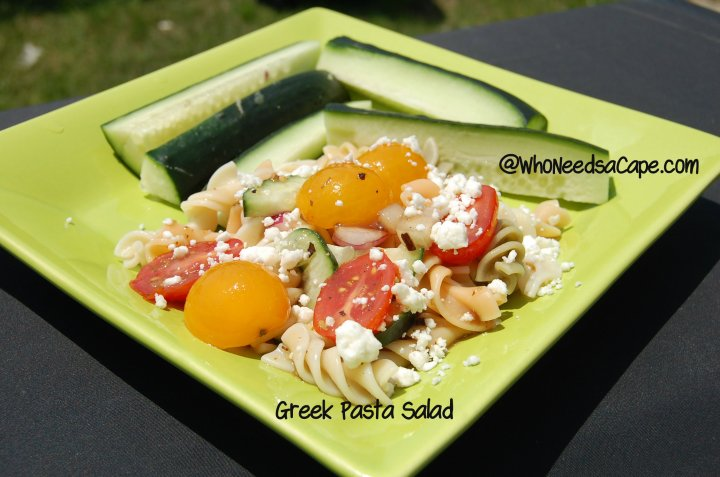 All your favorite flavors in this tasty Greek Pasta Salad. Loaded with veggies, pasta and an abundance of flavor, this will be your new favorite side.