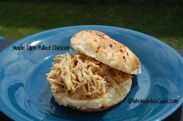 Maple Dijon Pulled Chicken for the Crock Pot