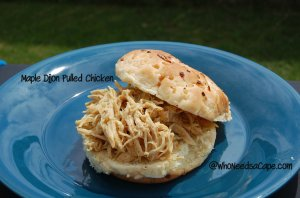Maple Dijon Pulled Chicken