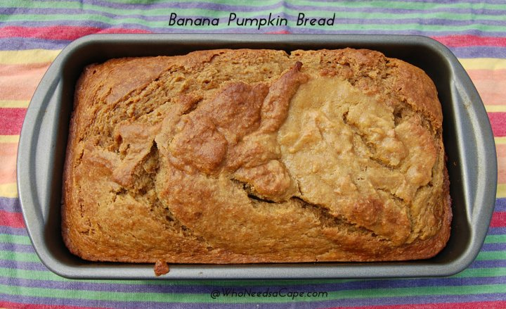 Whether for breakfast, snack or weekend brunch Banana Pumpkin Bread is delicious. Perfect autumn loaf and great for using those brown bananas.