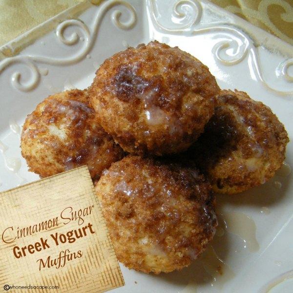 Cinnamon Sugar Greek Yogurt Muffins | Who Needs A Cape?