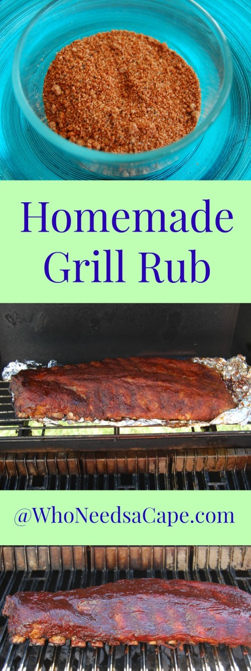 Homemade Grill Rub will take your BBQ to the next level. Make it in 5 minutes and totally change your dinner!