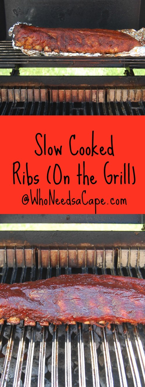 Slow Cooked on the Grill Ribs are the best around! Make them for any summer dinner and enjoy the flavor! You'll want to get the BBQ fired up again ASAP!