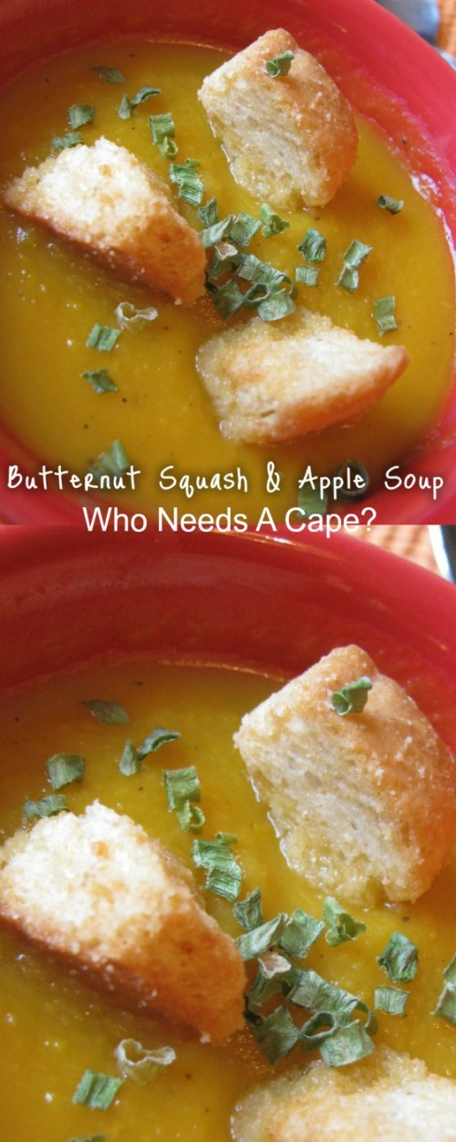 Butternut Squash and Apple Soup is a full-flavored soup that's perfect for the autumn season. Serve with some crusty bread and dinner is done.