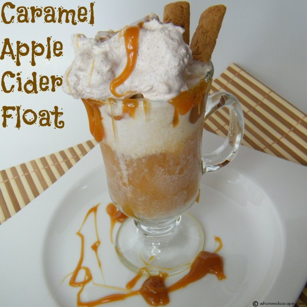 Caramel Apple Cider Float | Who Needs A Cape?