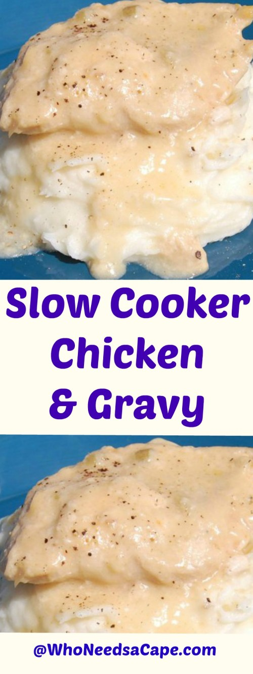 Slow Cooker Chicken & Gravy is a perfect meal for your freezer. Try out Slow Cooker Freezer Meals with this delish recipe!