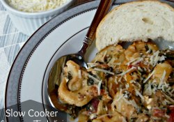 Slow Cooker Creamy Tortellini & Sausage