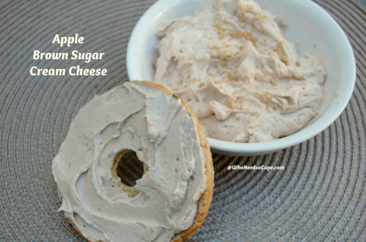 Apple Brown Sugar Cream Cheese is a great breakfast treat. Use it on Thanksgiving or any week-end on the fall to have a nice addition to breakfast!