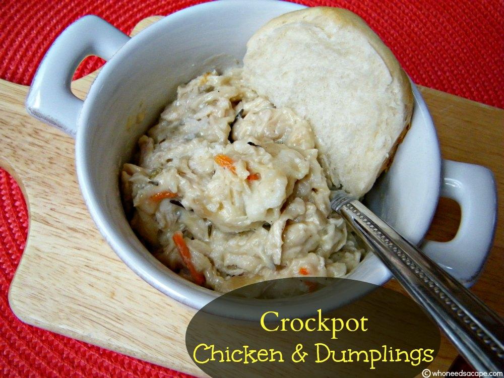Crockpot Chicken Amp Dumplings Who Needs A Cape