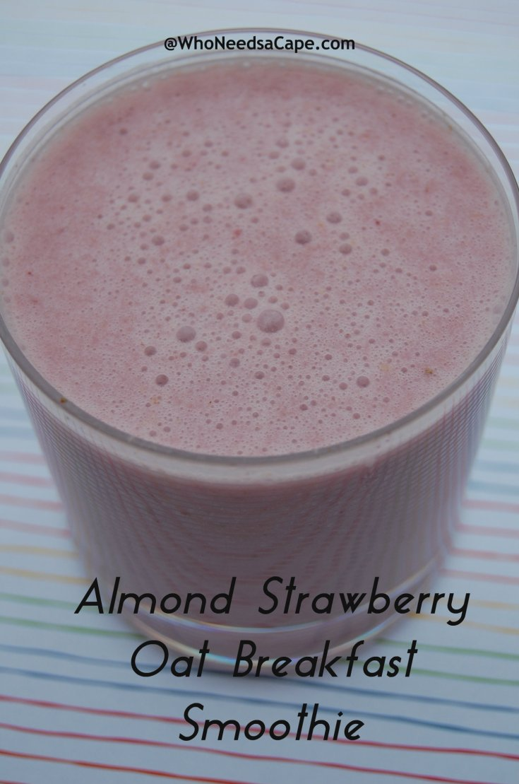 Almond Strawberry Oat Breakfast Smoothie
