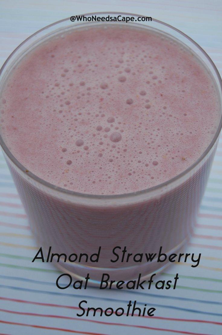 Almond Strawberry Oat Breakfast Smoothie