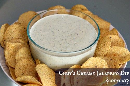 Chuy's {copycat} Creamy Jalapeno Dip