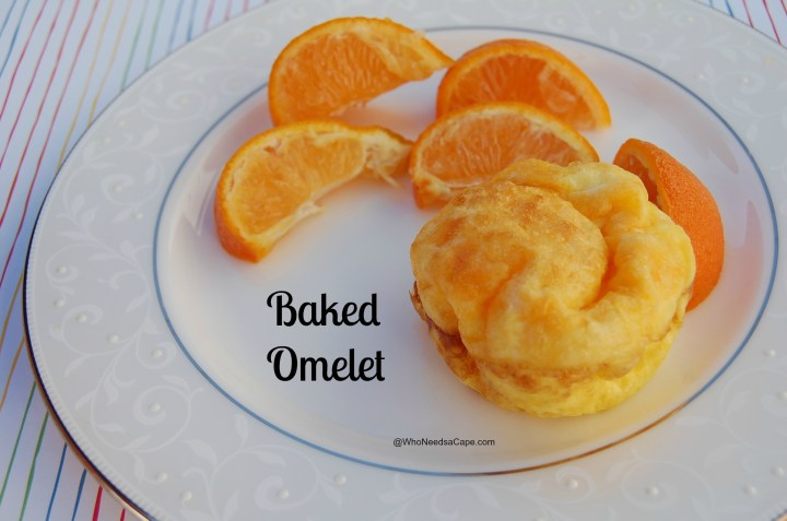 Use your muffin tins to make a baked omelet. Eggs turn out light and fluffy and you can store in refrigerator and heat for a quick breakfast!