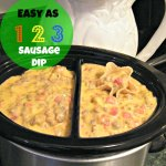 Easy as 123 Slow Cooker Sausage Dip
