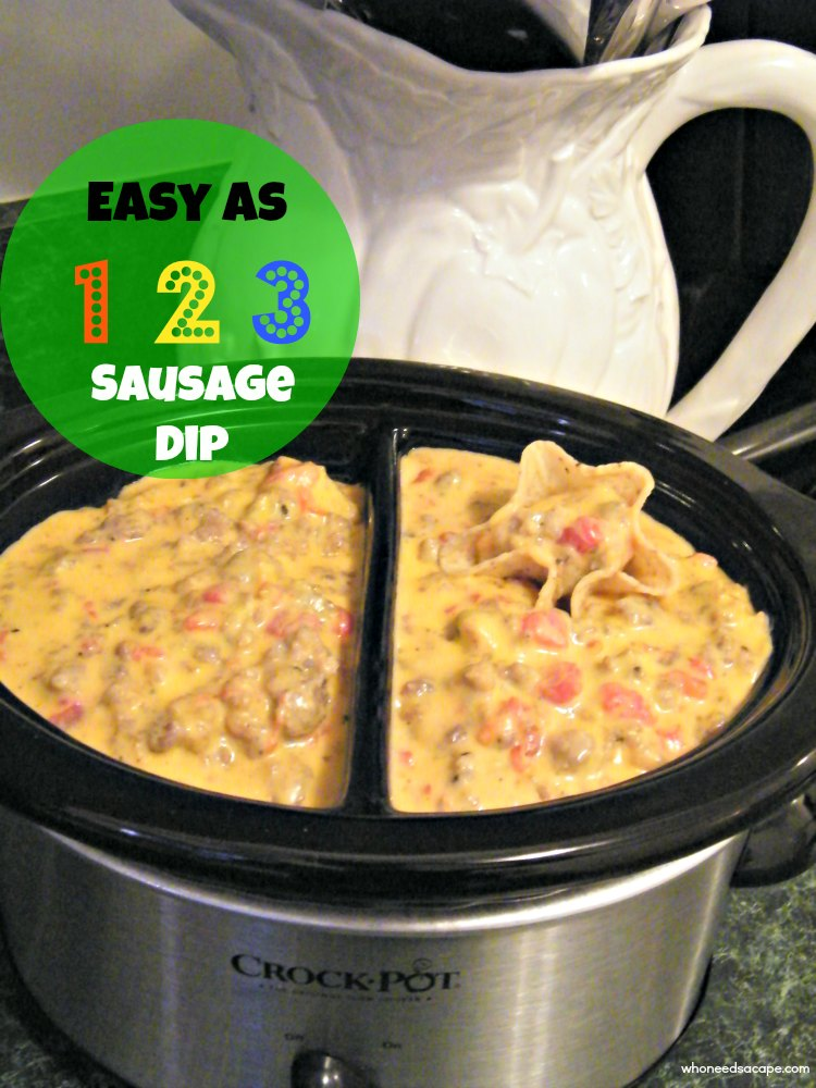 Easy as 123 sausage dip who needs a cape for Easy tailgating recipes for a crowd